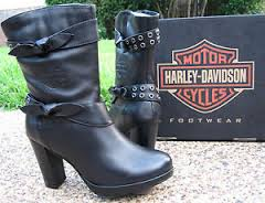 4617824342e03e Show the world your rebellious side with Harley-Davidson women s motorcycle  boots. Wear them with jeans